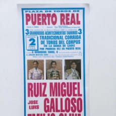 Carteles Toros: 1988 CARTEL PLAZA TOROS DE PUERTO REAL 2 JUNIO 1988 MED 20X42 CTM. Lote 127692904