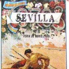 Carteles Toros: 1988 CARTEL PLAZA TOROS DE SEVILLA 24 ABRIL 1988 MED 21X45 CTM. Lote 127693184