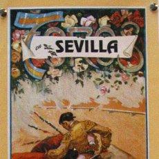 Carteles Toros: 1991 CARTEL PLAZA TOROS DE SEVILLA 19 ABRIL 1991 MED 21X45 CTM. Lote 127693216