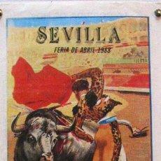 Carteles Toros: 1988 CARTEL PLAZA TOROS DE SEVILLA 19 ABRIL 1988 MED 20X45 CTM. Lote 127693224