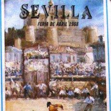 Carteles Toros: 1988 CARTEL PLAZA TOROS DE SEVILLA 16 ABRIL1988 MED 21X 45 CTM. Lote 127693228