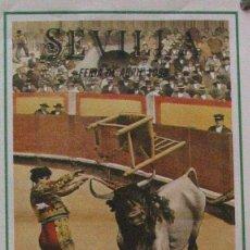 Carteles Toros: 1988 CARTEL PLAZA TOROS DE SEVILLA 23 ABRIL 1988 MED 21X45 CTM. Lote 127693367