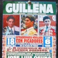 Carteles Toros: 1998 CARTEL PLAZA TOROS DE GUILLENA 18 ABRIL 1998 15X30 CTM. Lote 127693491