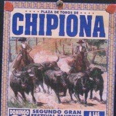 Carteles Toros: 1999 CARTEL PLAZA TOROS DE CHIPIONA 20 JUNIO 1999 MED 15X30 CTM. Lote 127693503