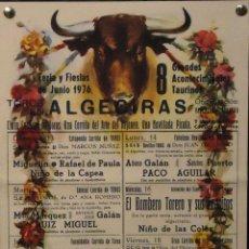 Carteles Toros: 1976 CARTEL PLAZA TOROS DE ALGECIRAS JUNIO 1976 MED 20X 32 CTM. Lote 127693571