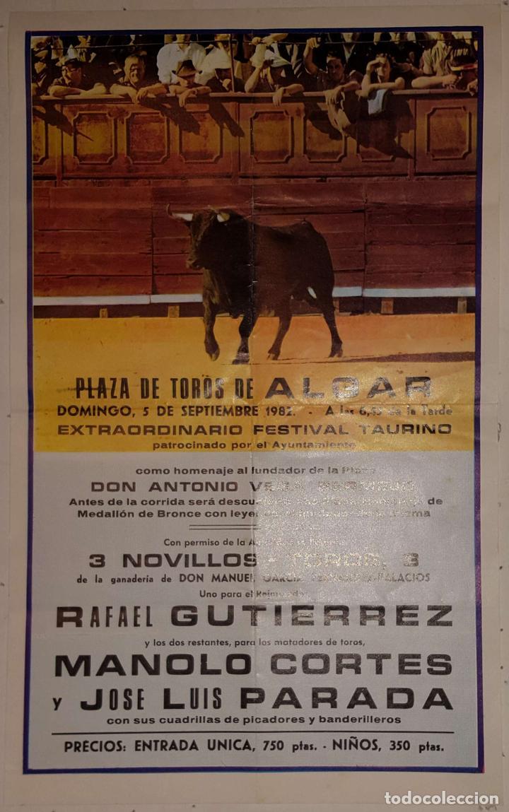 1982 CARTEL PLAZA TOROS DE ALGAR 5 SEPT 1982 MED20X32CTM (Coleccionismo - Carteles Gran Formato - Carteles Toros)