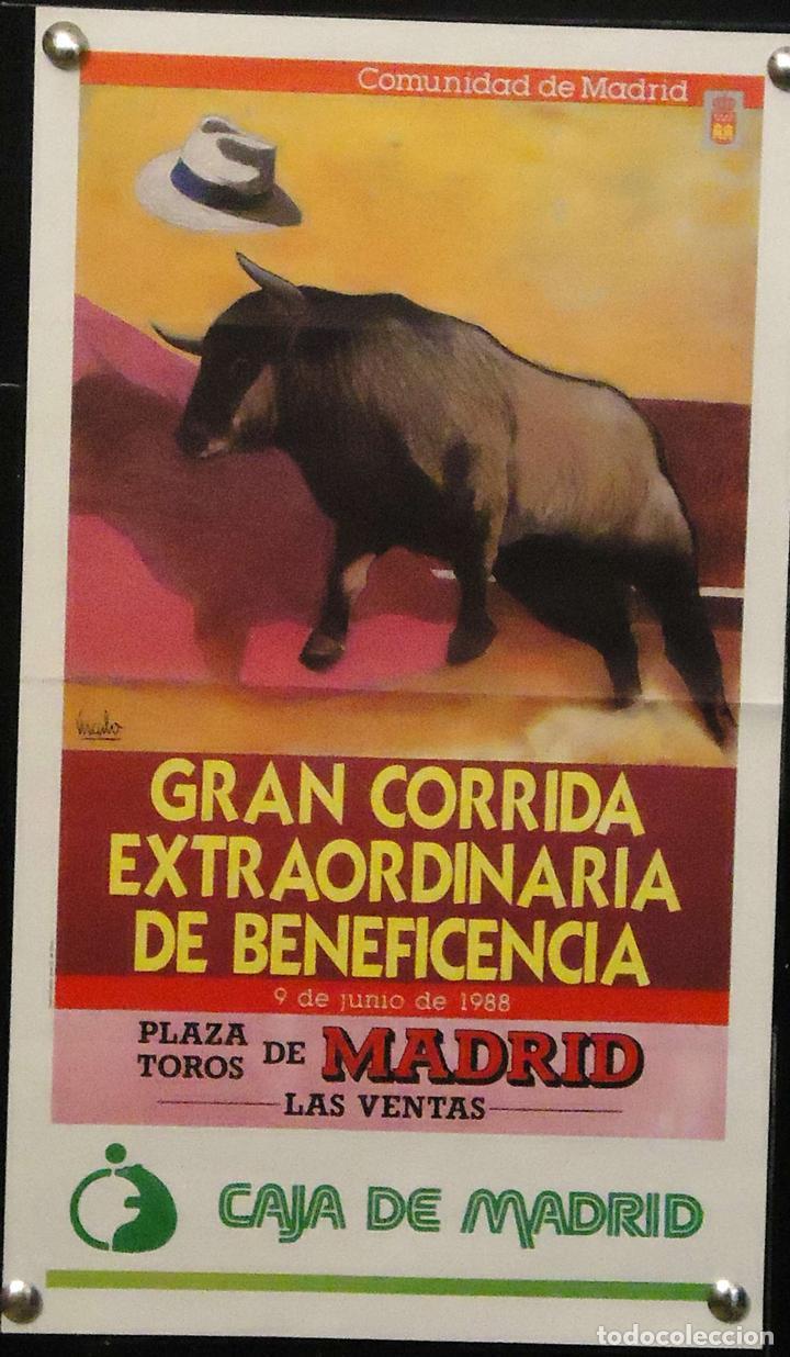 1988 CARTEL PLAZA TOROS DE MADRID 9 JUNIO 1988 MED 18X31CTM (Coleccionismo - Carteles Gran Formato - Carteles Toros)