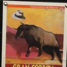 Carteles Toros: 1988 CARTEL PLAZA TOROS DE MADRID 9 JUNIO 1988 MED 18X31CTM. Lote 127693623