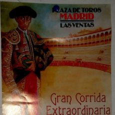 Carteles Toros: 1997 CARTEL PLAZA TOROS DE MADRID 19 JUNIO 1997 MED 18X 42 CTM. Lote 127693659