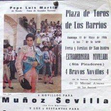 Carteles Toros: 1986 CARTEL PLAZA TOROS DE LOS BARRIOS 18 MAYO 1986 21X31 CTM. Lote 127693924