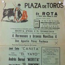 Carteles Toros: SF CARTEL PLAZA TOROS DE ROTA 25 JULIO MED 22 X 45 CTM. Lote 127695403