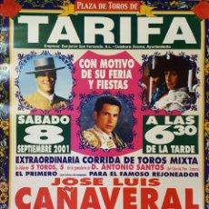 Carteles Toros: 2001 CARTEL PLAZA TOROS DE TARIFA 8 SEPTIEMBRE 2001 MED 48X65 CTM. Lote 127695954