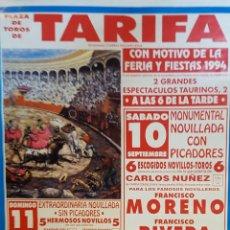 Carteles Toros: 1994 CARTEL PLAZA TOROS DE TARIFA 11 SEPTIEMBRE 1994 MED 46X64 CTM. Lote 127696083