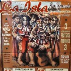Carteles Toros: 2006 CARTEL PLAZA TOROS DE SAN FERNANDO 14 SEPTIEMBRE 2006 MED 45X60 CTM. Lote 127696259