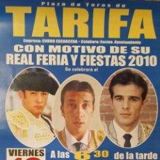 Carteles Toros: 2010 CARTEL PLAZA TOROS DE TARIFA 10 SEPTIEMBRE 2010 MED 33X67 CTM. Lote 127696635