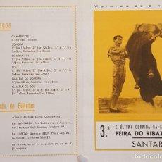 Carteles Toros: 1963 CARTEL PLAZA TOROS DE RIBATEJO 9 JUNIO 1963 MED 20X30 CTM. Lote 127691476