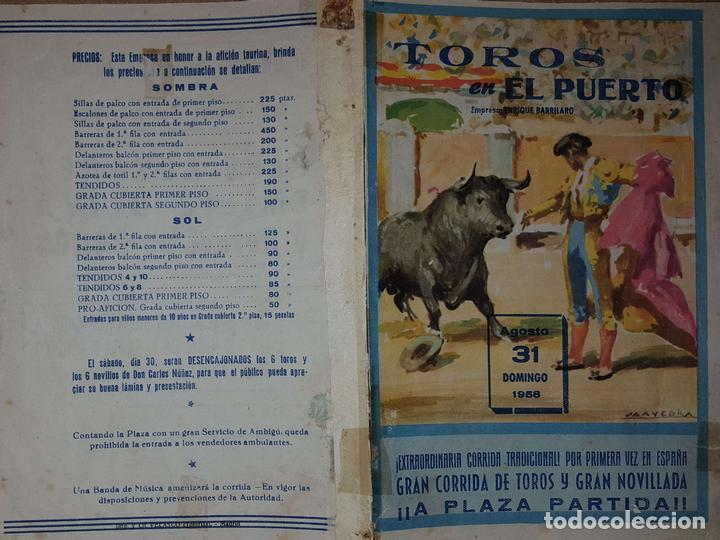 1958 Folleto De Mano Plaza Toros De El Puerto S Kaufen Alte