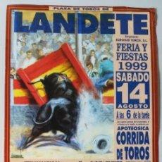 Carteles Toros: CARTEL TAURINO - PLAZA DE TOROS DE LANDATE, FERIA 1999.. Lote 129371495