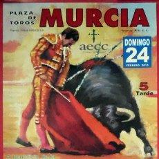 Carteles Toros: CARTEL PLAZA DE TOROS MURCIA 2013 FESTIVAL TAURINO SIN DOBLAR TAMAÑO GRANDE. Lote 130613274