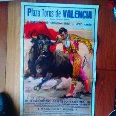 Carteles Toros: CARTEL TOROS VALENCIA 1982 PAQUIRRI-DAMASO-EMILIOMUÑOZ-ESPLA-SOROS-RUIZ MIGUEL. Lote 130830760