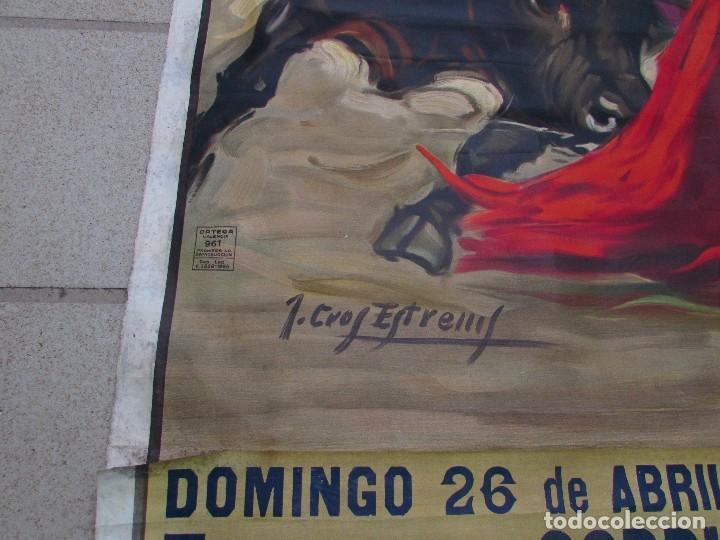 Carteles Toros: LOTE DE TRES CARTELES 1964 1965 VALENCIA GRAN TAMAÑO 235X112 - LITRI PACO CAMINO CORDOBES... - Foto 4 - 130920516