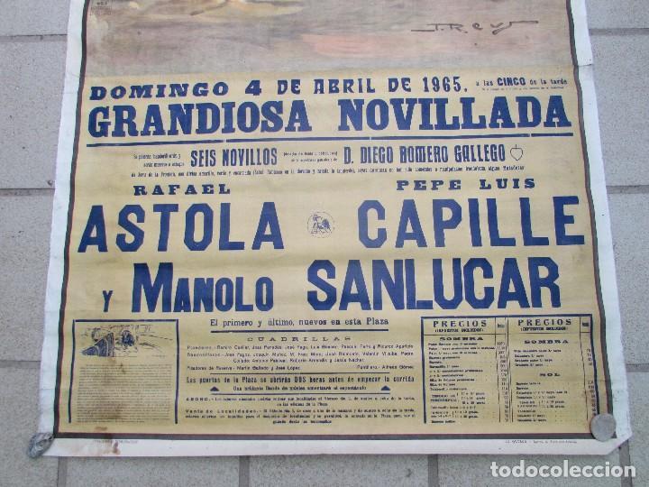 Carteles Toros: LOTE DE TRES CARTELES 1964 1965 VALENCIA GRAN TAMAÑO 235X112 - LITRI PACO CAMINO CORDOBES... - Foto 6 - 130920516