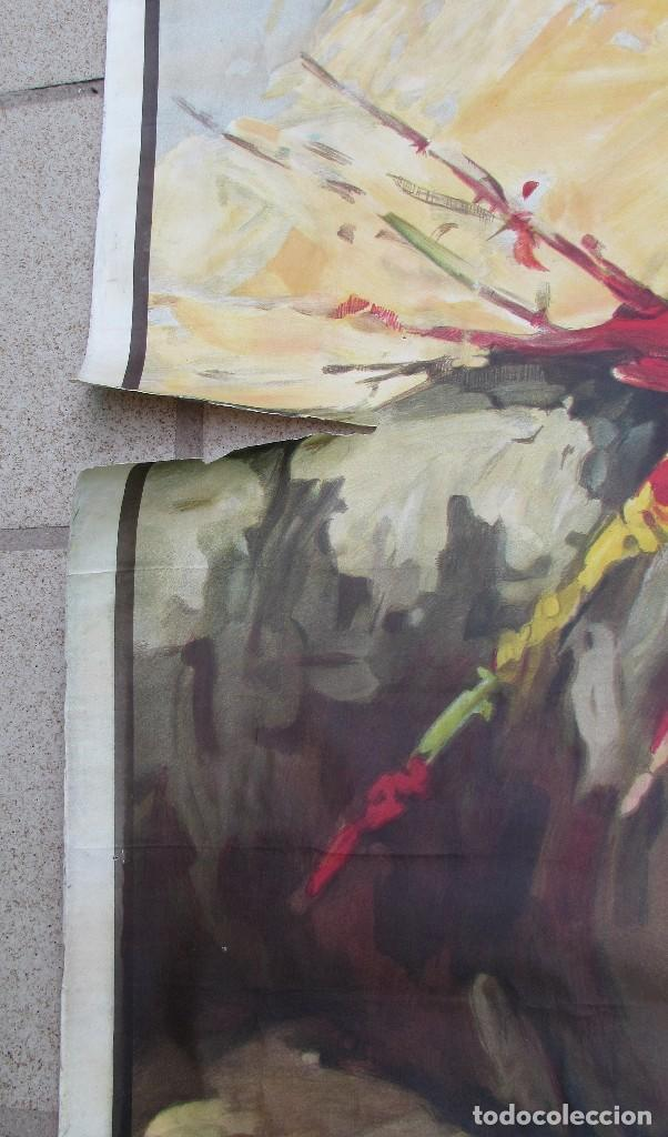 Carteles Toros: LOTE DE TRES CARTELES 1964 1965 VALENCIA GRAN TAMAÑO 235X112 - LITRI PACO CAMINO CORDOBES... - Foto 8 - 130920516