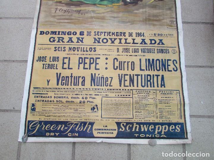 Carteles Toros: LOTE DE TRES CARTELES 1964 1965 VALENCIA GRAN TAMAÑO 235X112 - LITRI PACO CAMINO CORDOBES... - Foto 10 - 130920516