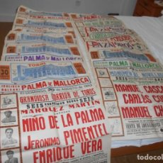 Carteles Toros: LOTE DE CARTELES, ENTRADAS, LIBROS, RECORTES.. Lote 131143252
