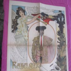 Affiches Tauromachie: RAFAEL GUERRA GUERRITA CARTEL DE TOROS 1899 ORIGINAL.. Lote 131448106