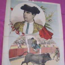 Carteles Toros: SANCHEZ DE LEON TORERO CARTEL DE TOROS 1892 ORIGINAL.. Lote 131453586