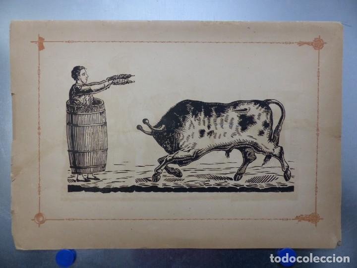 ANTIGUO GRABADO TAURINO, IMPRENTA ORGA, AÑOS 1890-1900 (Coleccionismo - Carteles Gran Formato - Carteles Toros)
