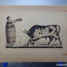 Carteles Toros: ANTIGUO GRABADO TAURINO, IMPRENTA ORGA, AÑOS 1890-1900. Lote 131481586