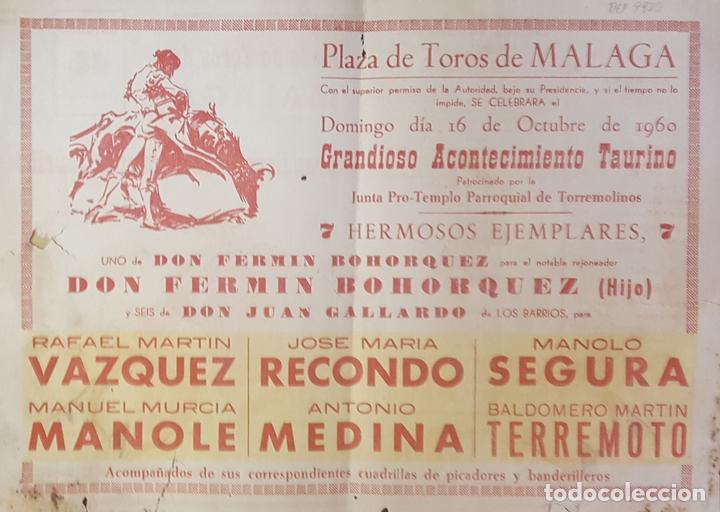 1960 Folleto De Mano Plaza Toros De Malaga 16 O Kaufen Alte
