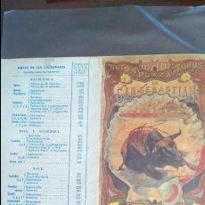 Carteles Toros: PROGRAMA FERIA Y FIESTAS SAN SEBASTIÁN TOROS 1967. Lote 131917498