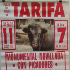 Carteles Toros: 1994 CARTEL PLAZA TOROS DE TARIFA 11 SEPTIEMBRE 1994 MED 190X90 CTM. Lote 131916923