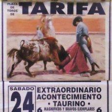Carteles Toros: 1994 CARTEL PLAZA TOROS DE TARIFA 24 SEPTIEMBRE 1994 MED 190X90 CTM. Lote 131916951