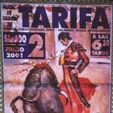 Carteles Toros: 2001 CARTEL PLAZA TOROS DE TARIFA 2 JUNIO 2001 MED 190X90 CTM. Lote 131916963