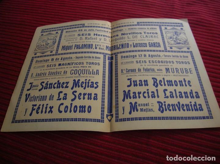 Carteles Toros: antiguo programa de Toros. Santander, verano de 1934 - Foto 2 - 132552830