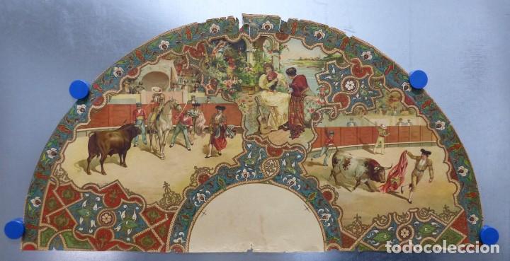 PRECIOSO DIBUJO PARA ABANICO CON MOTIVO TAURINO - AÑOS 1900-1910 (Coleccionismo - Carteles Gran Formato - Carteles Toros)