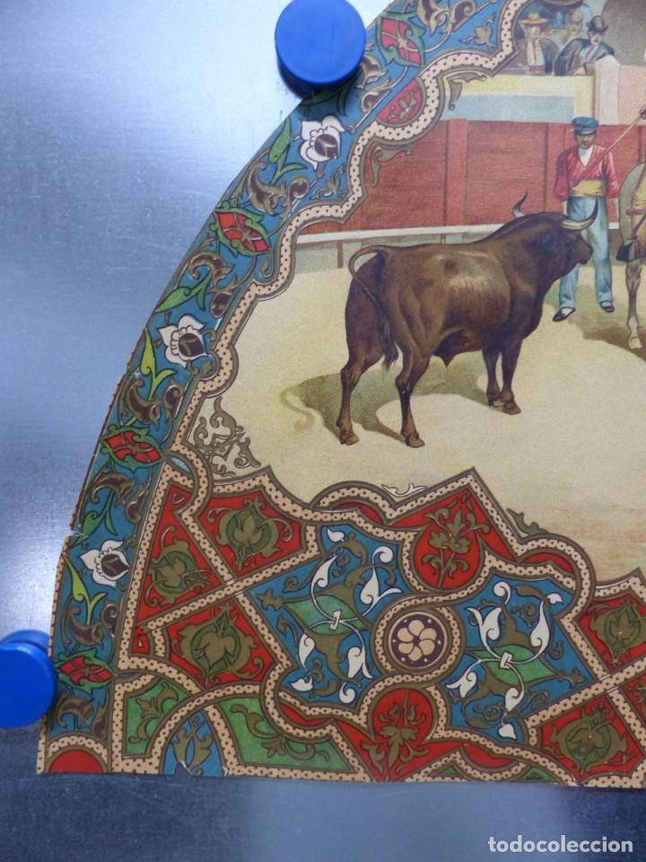 Carteles Toros: PRECIOSO DIBUJO PARA ABANICO CON MOTIVO TAURINO - AÑOS 1900-1910 - Foto 2 - 132558678