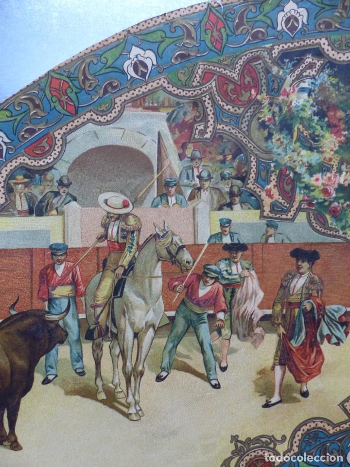 Carteles Toros: PRECIOSO DIBUJO PARA ABANICO CON MOTIVO TAURINO - AÑOS 1900-1910 - Foto 3 - 132558678
