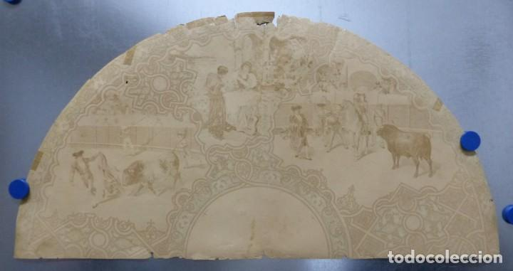 Carteles Toros: PRECIOSO DIBUJO PARA ABANICO CON MOTIVO TAURINO - AÑOS 1900-1910 - Foto 8 - 132558678