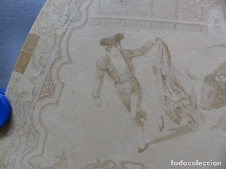 Carteles Toros: PRECIOSO DIBUJO PARA ABANICO CON MOTIVO TAURINO - AÑOS 1900-1910 - Foto 11 - 132558678