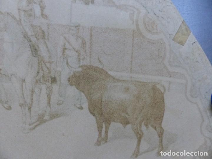 Carteles Toros: PRECIOSO DIBUJO PARA ABANICO CON MOTIVO TAURINO - AÑOS 1900-1910 - Foto 12 - 132558678