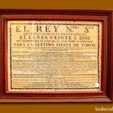 Carteles Toros: 1782 CARTEL PLAZA TOROS DE EXTRAPUERTA DE ALCALA 22 JUNIO 1782 MED 38X27 CTM. Lote 132584142