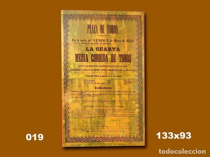 1852 CARTEL PLAZA TOROS DE MADRID 5 JUNIO 1852 MED 133X93 CTM (Coleccionismo - Carteles Gran Formato - Carteles Toros)
