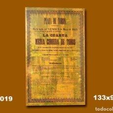 Carteles Toros: 1852 CARTEL PLAZA TOROS DE MADRID 5 JUNIO 1852 MED 133X93 CTM. Lote 132584162