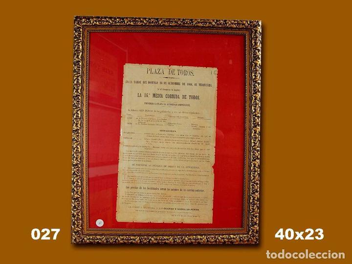 1866 CARTEL PLAZA TOROS DE MADRID 16 SETIEMBRE 1866 MED 40X23 CTM (Coleccionismo - Carteles Gran Formato - Carteles Toros)