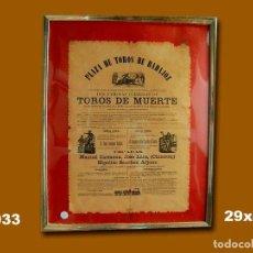 Carteles Toros: 1987 CARTEL PLAZA TOROS DE BADAJOZ 30 AGOSTO 1867 MED 50X40 CTM. Lote 132584198